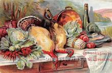 hol061474 - Thanksgiving Old Vintage Antique Postcard Post Card