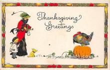 hol061475 - Thanksgiving Old Vintage Antique Postcard Post Card
