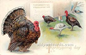 hol061477 - Thanksgiving Old Vintage Antique Postcard Post Card
