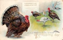 hol061478 - Thanksgiving Old Vintage Antique Postcard Post Card
