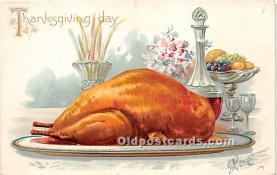 hol061479 - Thanksgiving Old Vintage Antique Postcard Post Card