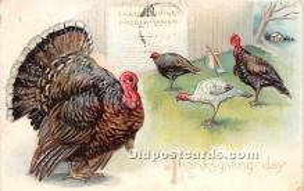 hol061480 - Thanksgiving Old Vintage Antique Postcard Post Card