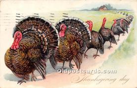 hol061481 - Thanksgiving Old Vintage Antique Postcard Post Card