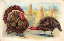 hol061483 - Thanksgiving Old Vintage Antique Postcard Post Card
