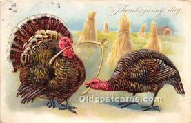 hol061483 - Thanksgiving Old Vintage Antique Postcard Post Card