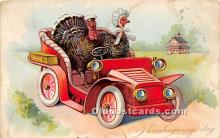 hol061484 - Thanksgiving Old Vintage Antique Postcard Post Card
