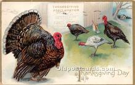 hol061485 - Thanksgiving Old Vintage Antique Postcard Post Card