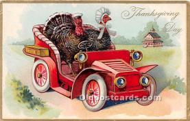 hol061486 - Thanksgiving Old Vintage Antique Postcard Post Card