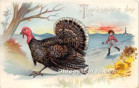 hol061488 - Thanksgiving Old Vintage Antique Postcard Post Card