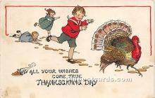 hol061491 - Thanksgiving Old Vintage Antique Postcard Post Card