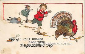 hol061491 - Thanksgiving Old Vintage Antique Postcard Post Card