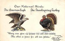 hol061493 - Thanksgiving Old Vintage Antique Postcard Post Card