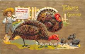 hol061496 - Thanksgiving Old Vintage Antique Postcard Post Card