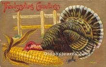 hol061497 - Thanksgiving Old Vintage Antique Postcard Post Card