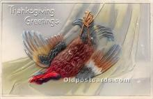 hol061498 - Thanksgiving Old Vintage Antique Postcard Post Card