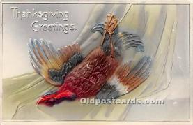 hol061498 - Thanksgiving Old Vintage Antique Postcard Post Card