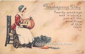 hol061502 - Thanksgiving Old Vintage Antique Postcard Post Card