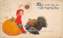 hol061503 - Thanksgiving Old Vintage Antique Postcard Post Card