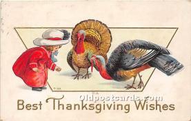 hol061506 - Thanksgiving Old Vintage Antique Postcard Post Card