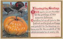 hol061513 - Thanksgiving Old Vintage Antique Postcard Post Card