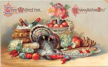 hol061514 - Thanksgiving Old Vintage Antique Postcard Post Card