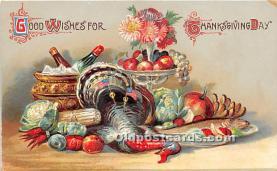 hol061514 - Thanksgiving Old Vintage Antique Postcard Post Card
