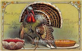 hol061515 - Thanksgiving Old Vintage Antique Postcard Post Card
