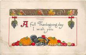hol061517 - Thanksgiving Old Vintage Antique Postcard Post Card