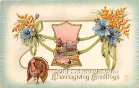 hol061519 - Thanksgiving Old Vintage Antique Postcard Post Card