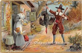 hol061520 - Thanksgiving Old Vintage Antique Postcard Post Card