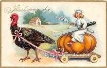 hol061525 - Thanksgiving Old Vintage Antique Postcard Post Card