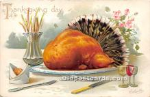hol061528 - Thanksgiving Old Vintage Antique Postcard Post Card