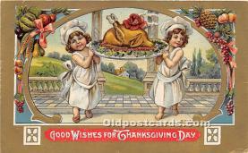 hol061534 - Thanksgiving Old Vintage Antique Postcard Post Card