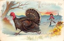 hol061540 - Thanksgiving Old Vintage Antique Postcard Post Card