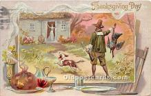 hol061543 - Thanksgiving Old Vintage Antique Postcard Post Card