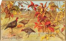 hol061544 - Thanksgiving Old Vintage Antique Postcard Post Card