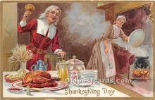 hol061548 - Thanksgiving Old Vintage Antique Postcard Post Card