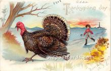 hol061552 - Thanksgiving Old Vintage Antique Postcard Post Card