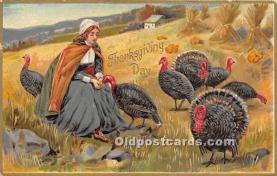 hol061553 - Thanksgiving Old Vintage Antique Postcard Post Card