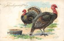 hol061555 - Thanksgiving Old Vintage Antique Postcard Post Card