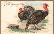 hol061556 - Thanksgiving Old Vintage Antique Postcard Post Card