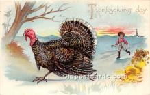 hol061557 - Thanksgiving Old Vintage Antique Postcard Post Card