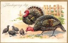 hol061562 - Thanksgiving Old Vintage Antique Postcard Post Card