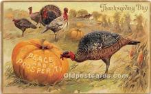hol061564 - Thanksgiving Old Vintage Antique Postcard Post Card