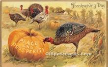hol061565 - Thanksgiving Old Vintage Antique Postcard Post Card