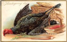 hol061566 - Thanksgiving Old Vintage Antique Postcard Post Card