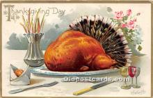 hol061569 - Thanksgiving Old Vintage Antique Postcard Post Card