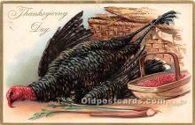 hol061570 - Thanksgiving Old Vintage Antique Postcard Post Card