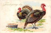 hol061571 - Thanksgiving Old Vintage Antique Postcard Post Card