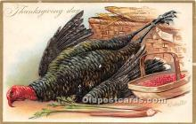 hol061572 - Thanksgiving Old Vintage Antique Postcard Post Card